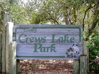 Crews Lake Sign