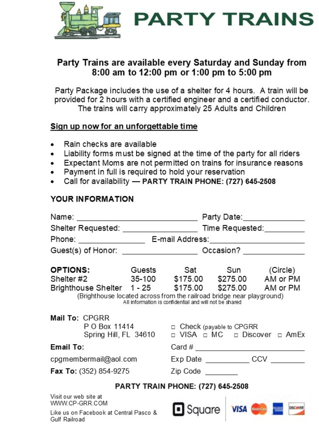 Party Train Flyer